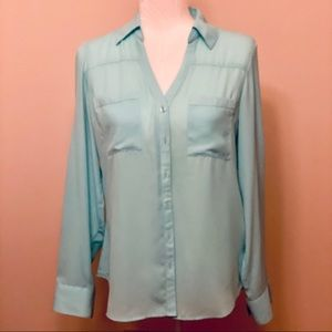 Bright Cyan Blue EXPRESS Portofino Shirt - Small